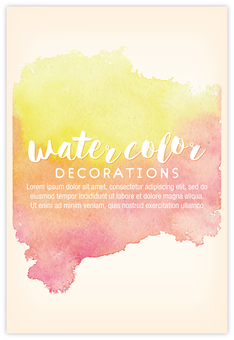 Hand-painted watercolor background