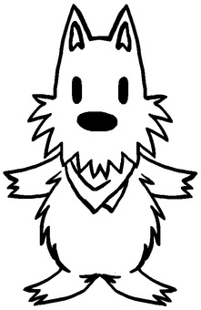 Bucket coated material (Scotch terrier)