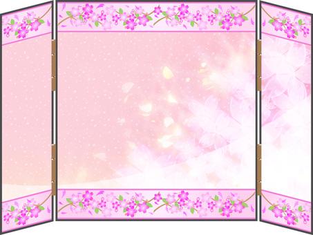 Luxurious cherry blossom screen 01