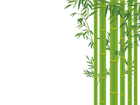 Bamboo with bamboo leaves _ Bamboo cutout 01