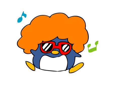 Funky Afro Penguin