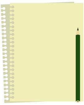 Note paper loose leaf vector