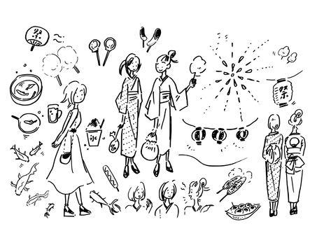 Summer festival · going out girls