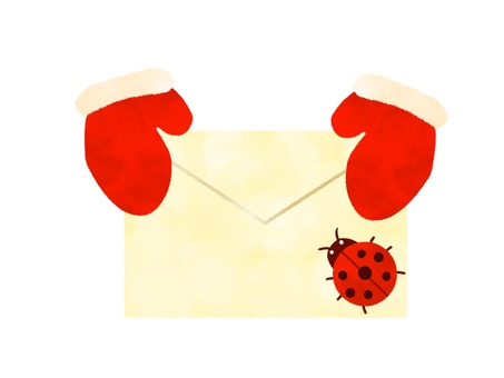 Letter with ladybug