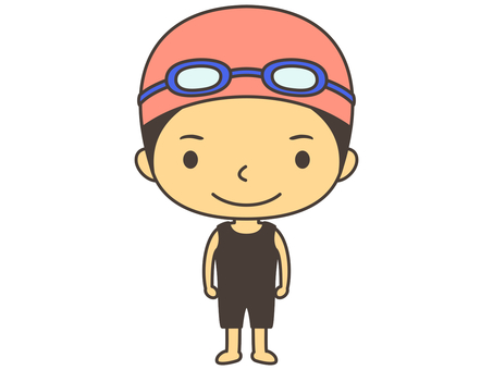 Swimming character D1
