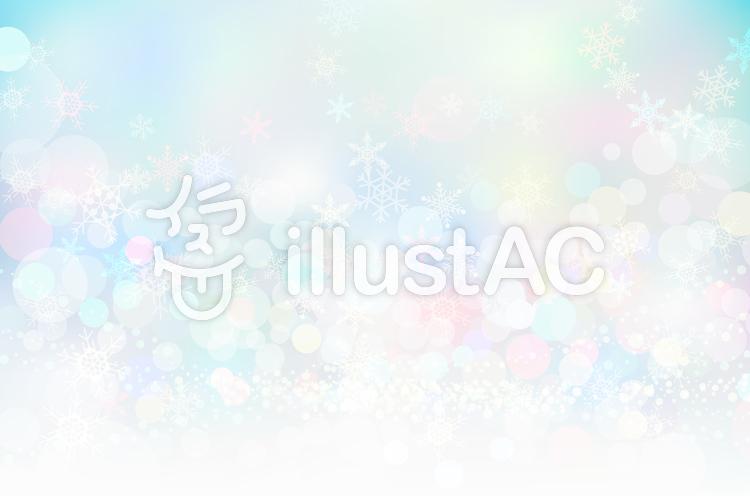 ファンタジーな雪の結晶と抽象背景素材のイラスト
