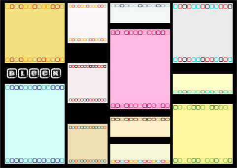 Card design: BLOCK