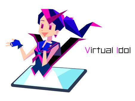 Virtual idol image