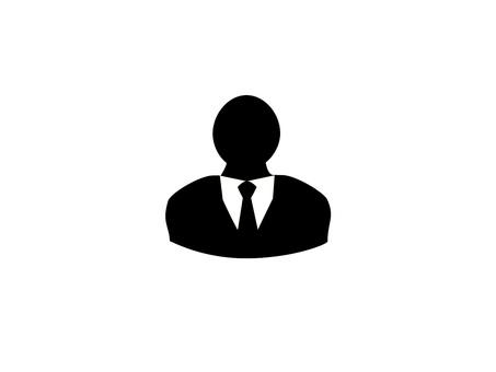 Men suit silhouette