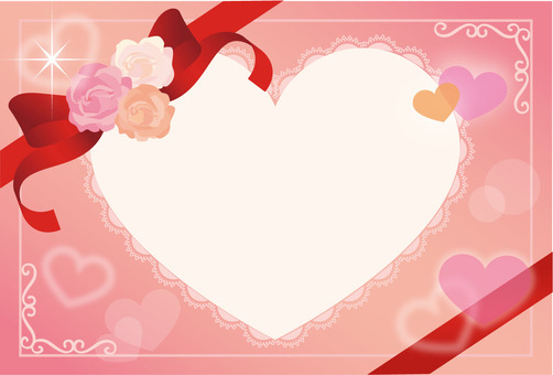 Rose and heart card