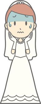 Bride dress - tension - whole body
