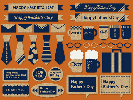Father's day tie beer speech bubble glasses