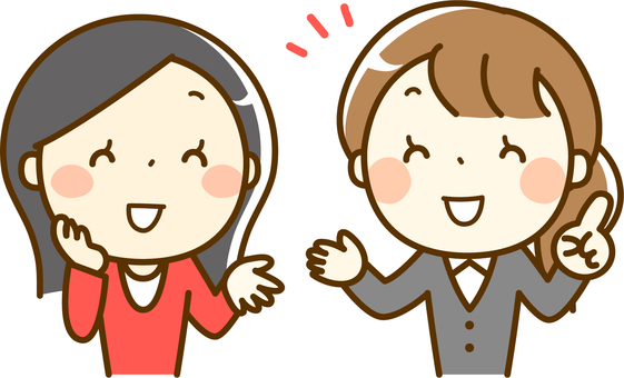 Người nước ngoài nói chuyện với một nụ cười và nhân viên phiên dịch