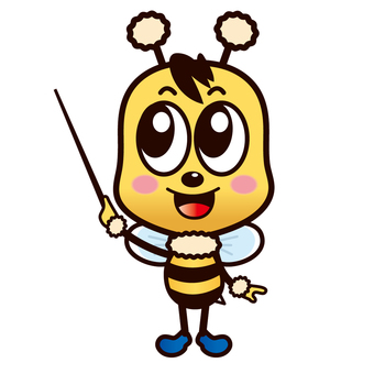 Bee's cute character (Noticeable pose)