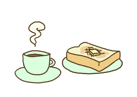 Bread and coffee