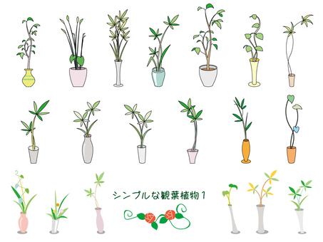 シンプルな観葉植物01