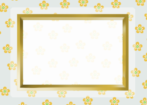 Frame happy yellow small flowers