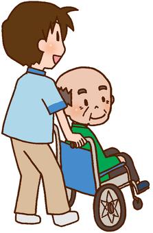 【Rehabilitation】 Therapist, Patient, Walk