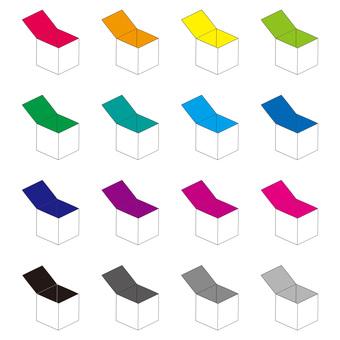 White empty box color set