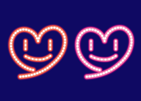 Heart · neon sign set D