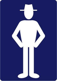 Toilet mark (male)