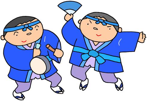 年賀用イラスト.18(正月踊り)