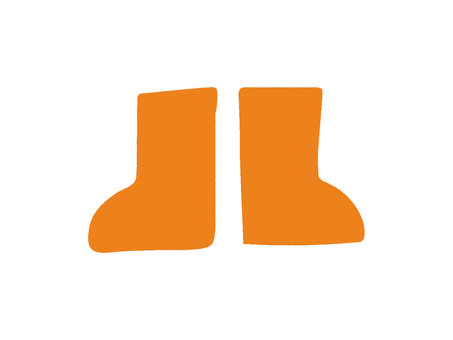 Rain boots orange