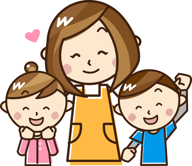 Nursery teachers and children _E 01