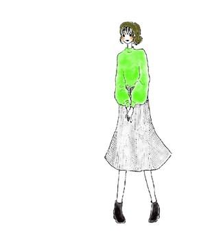 [Fashion] Check Pattern Skirt
