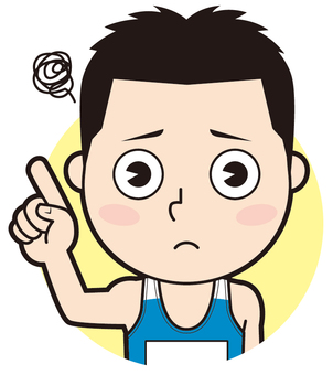 Pointing Male athlete (worried)