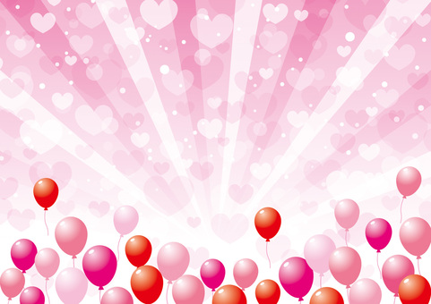 Valentine_ Balloon and Heart _ Background 01
