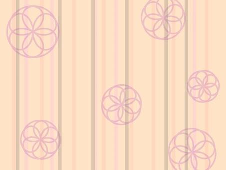 Floral pattern in stripes