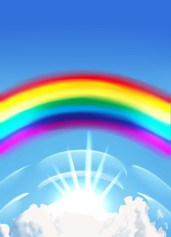 Rainbow bridge background