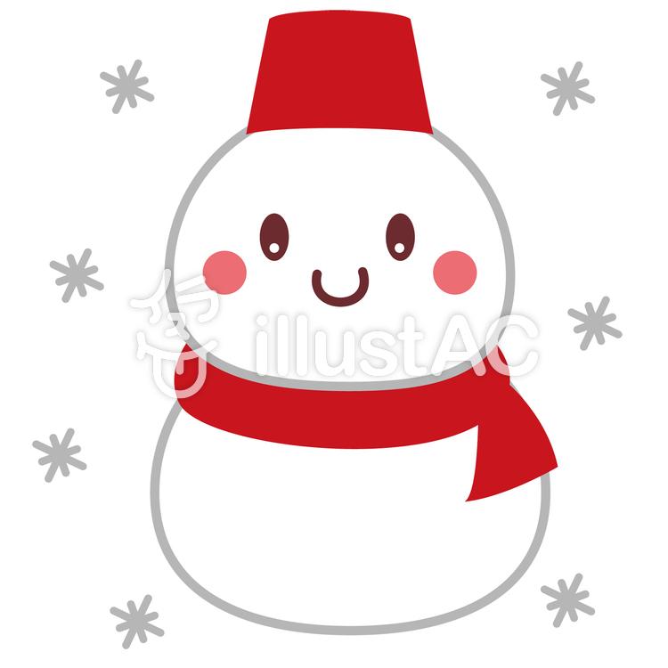 雪だるま かわいいのイラスト