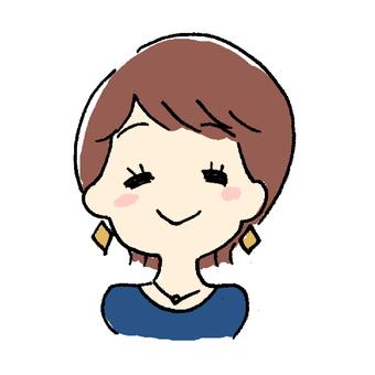 Short hair woman (joy)