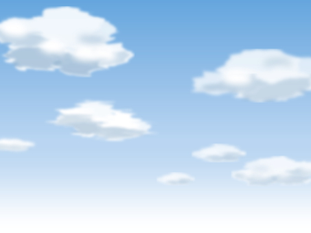 Fluffy white clouds floating in the blue sky, background material
