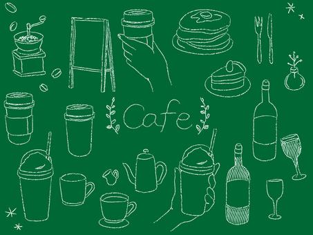 カフェ おしゃれ チョーク 素材セット3