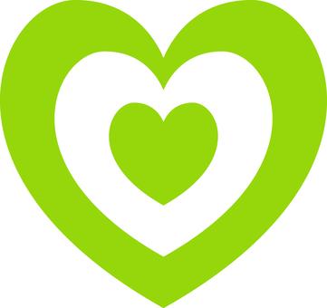 Heart _ double _ yellow green