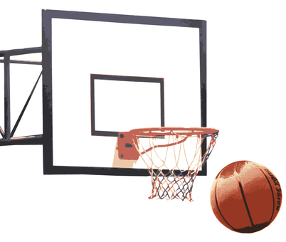 Basketball and goals