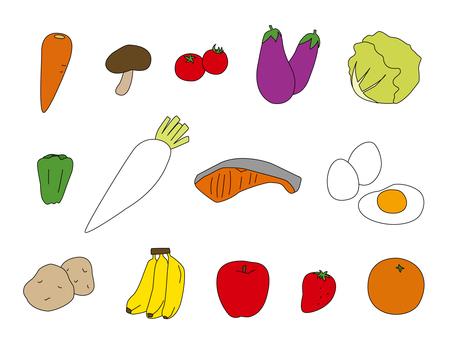 야채 과일 세트