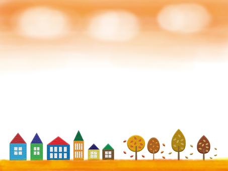 가을의 거리 풍경 프레임