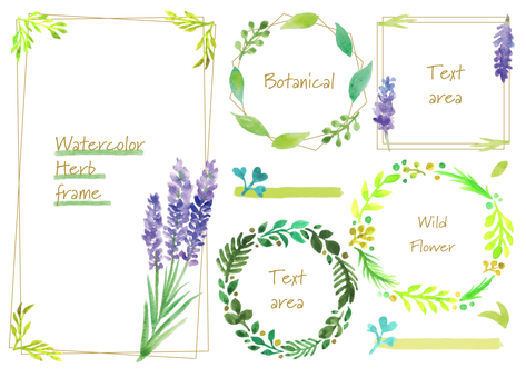 Herbal botanical frame
