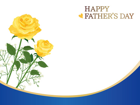 Father's Day Roses Curve Message Card 01
