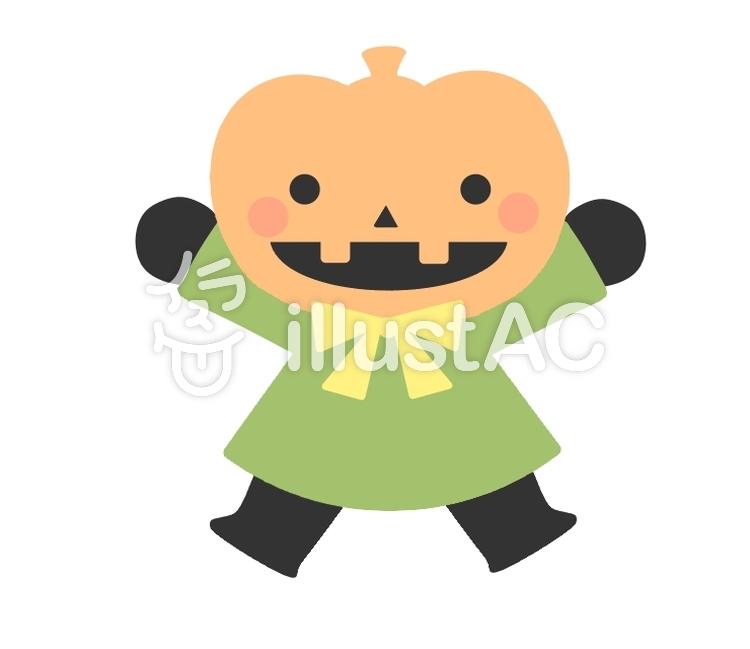かぼちゃおばけイラスト No 1224923無料イラストならイラストac
