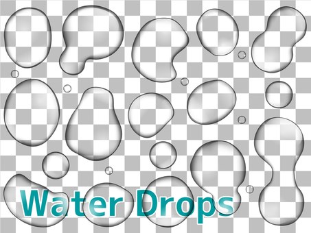 Water Drops through the water 2