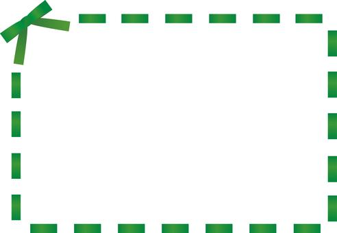 Ribbon stitch frame <Green>