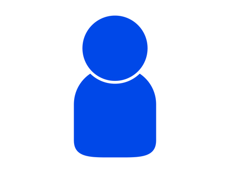 People icon (1 person) Blue