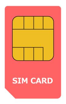 SIM card standard size shim card