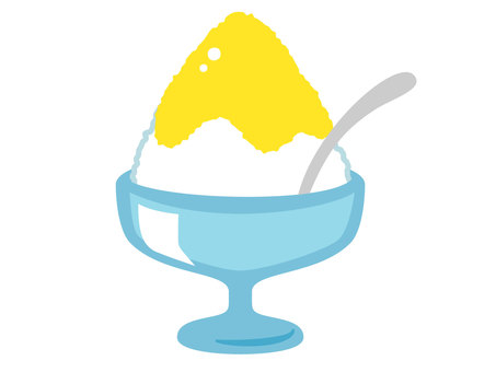 Shaved ice lemon