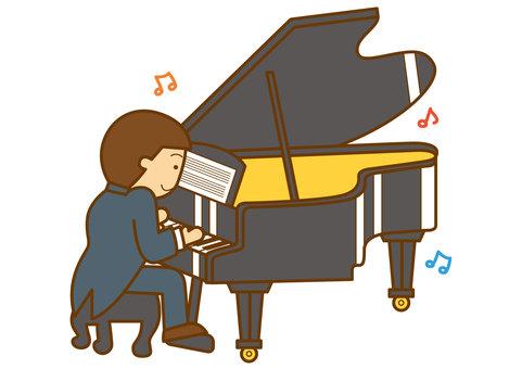 그랜드 피아노 4c